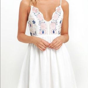 Mini dress with embroidery from lulus